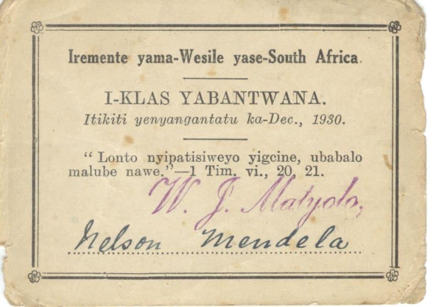 mandela archive church card