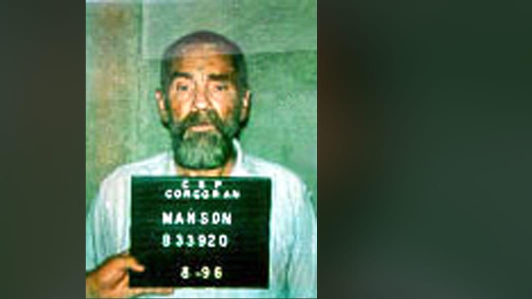Charles Manson mugshot 5 (1996)