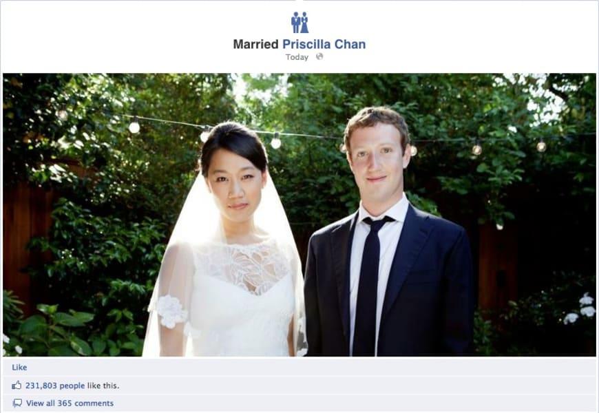 Mark Zuckerberg married