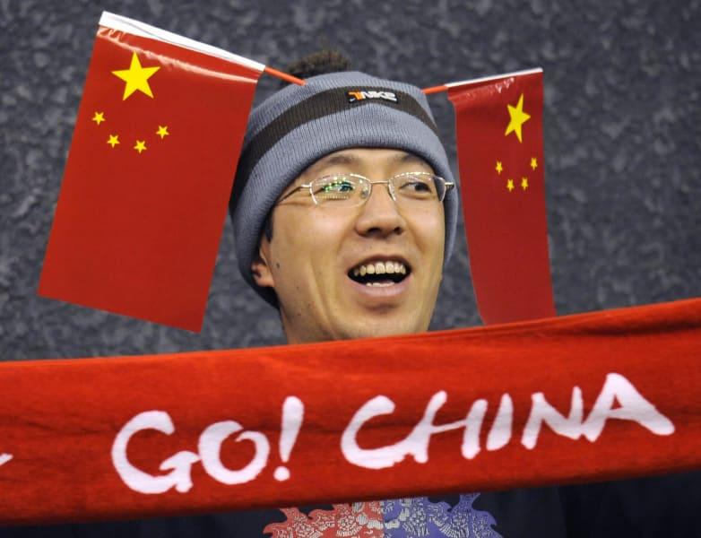 li na chinese fan