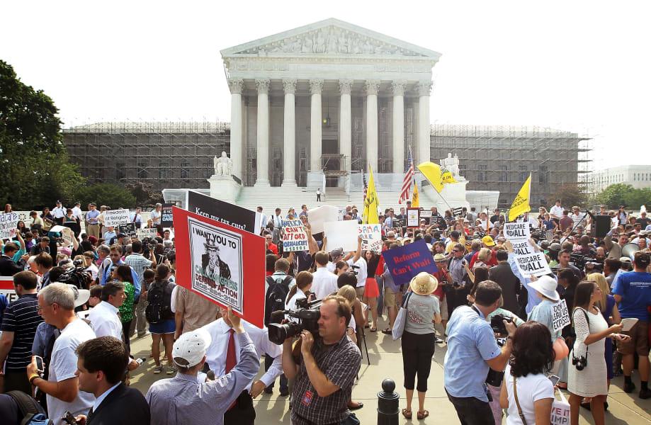 healthcare coverage supreme court scene