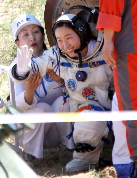 Liu Yang return to earth