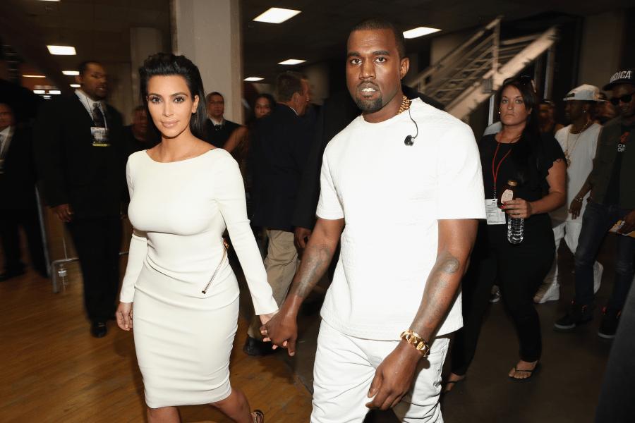 Kim Kardashian Kanye West BET Awards 2012