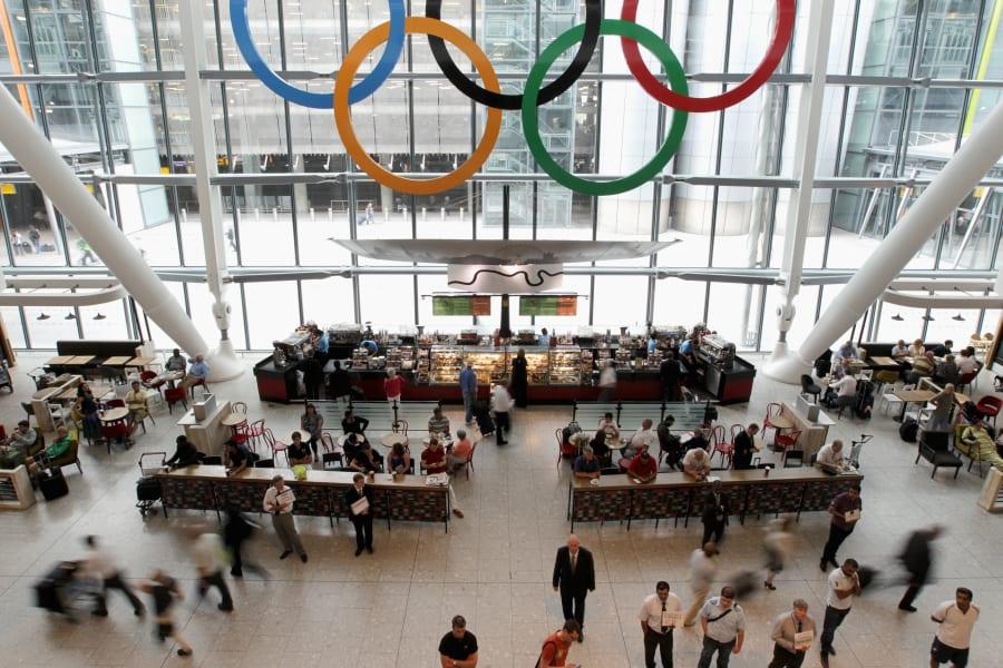 olympics london heathrow airport