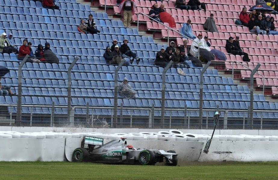 Schumacher Hockenheim crash motorsport