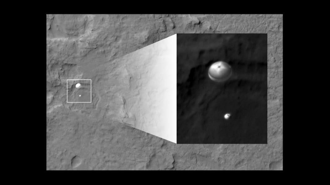 mars landing parachute
