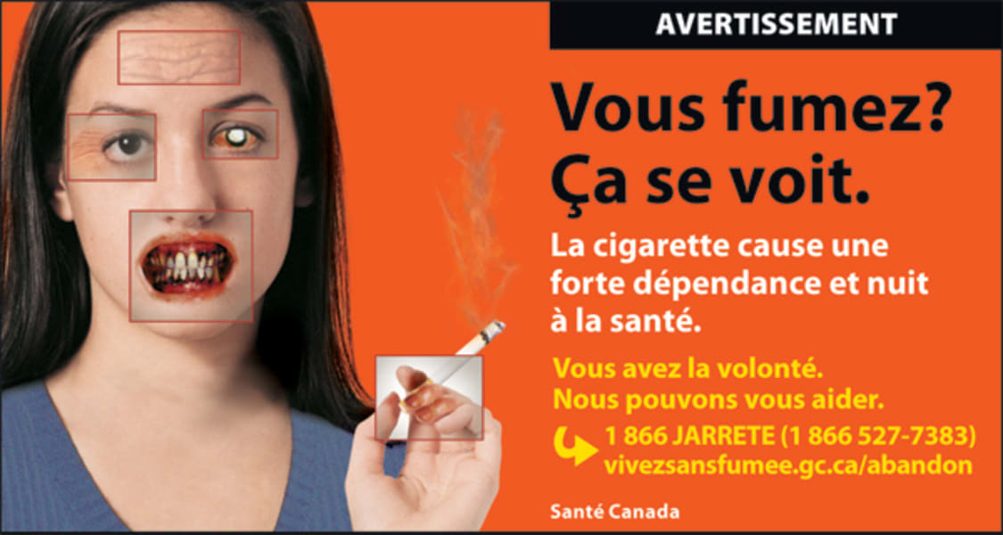 Canada tobacco warning