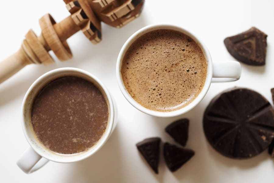 two cups of hot chocolate