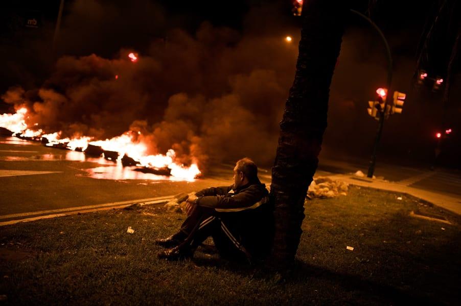 Eurozone protests Barcelona