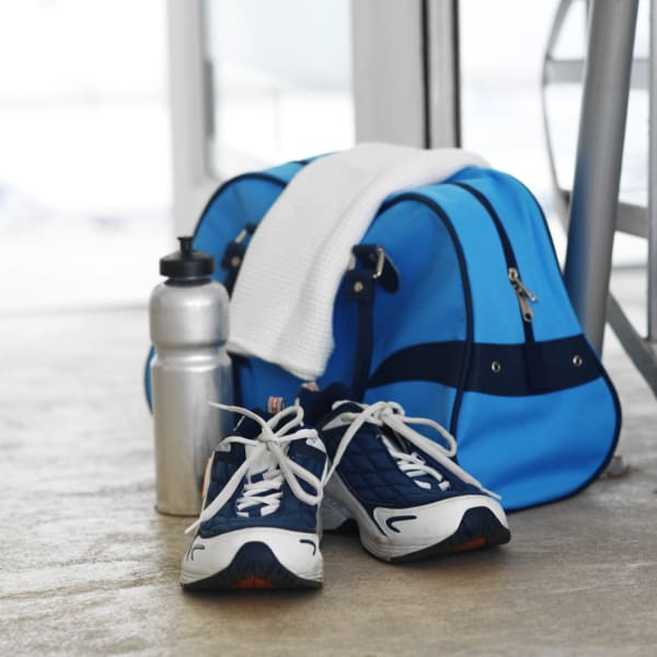 gym clothes bag sneakers