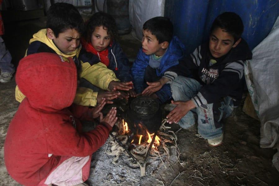 Mideast winter kids