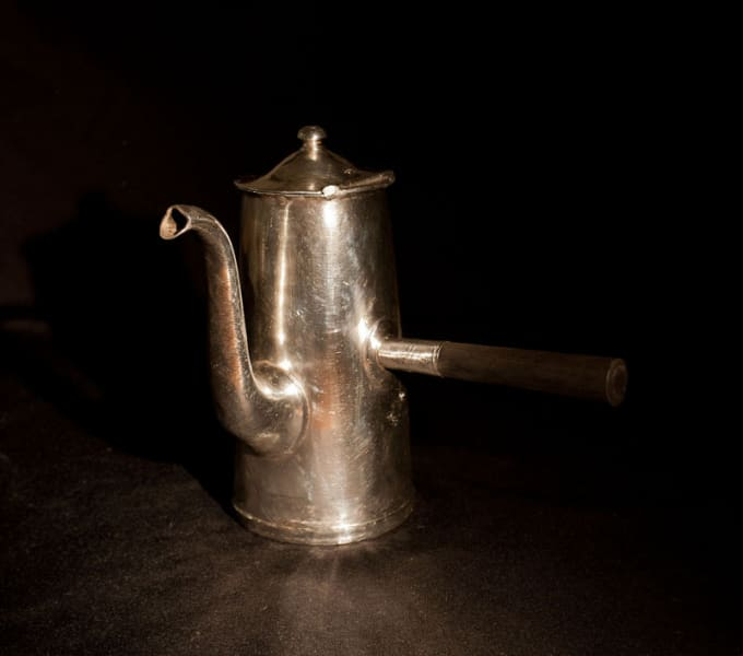 Waldorf astoria silver teapot