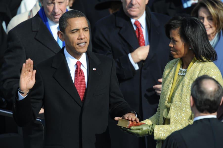 Obama sworn in as 44th pres.