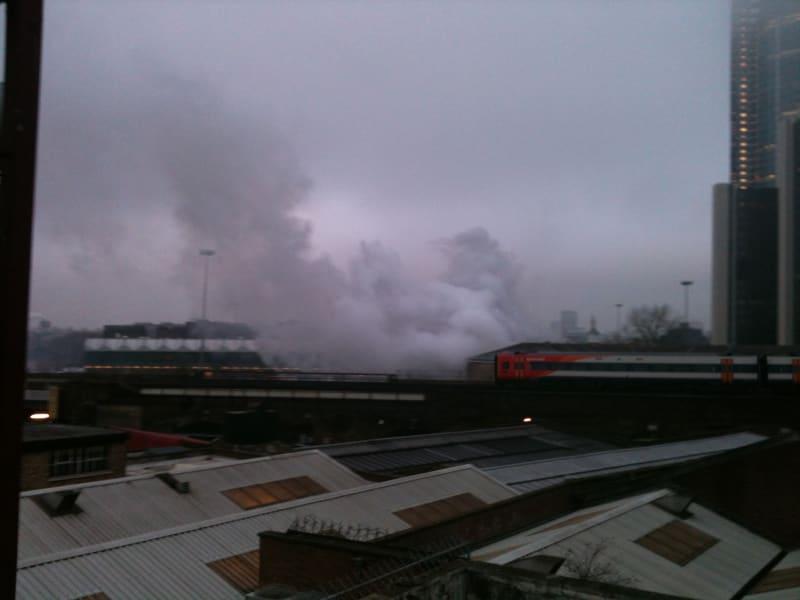 London helicopter smoke