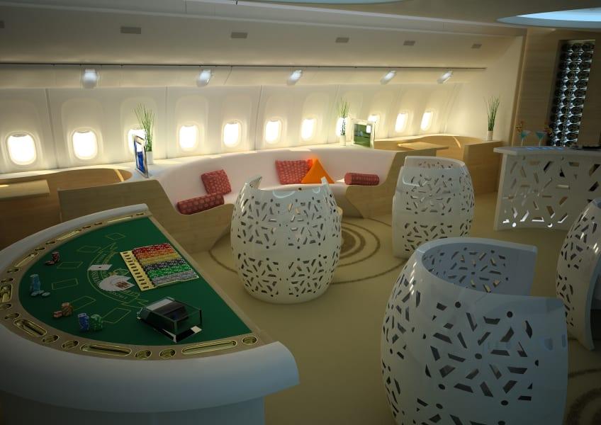 Business Traveler casino Jet Lounge backjack table