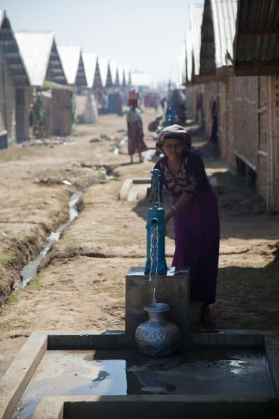 well Myanmar camp