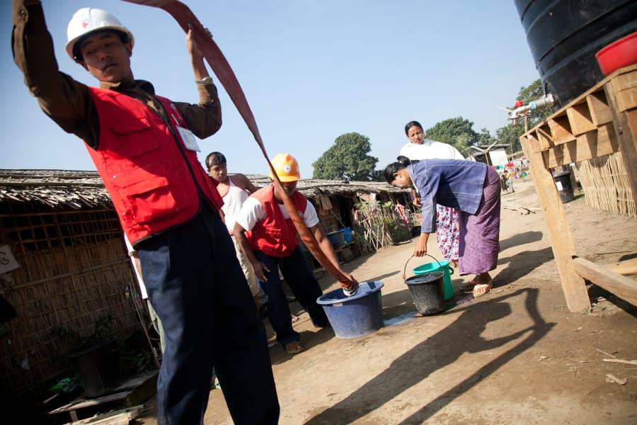 water Myanmar camp