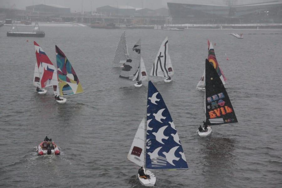 fine art sails gulls
