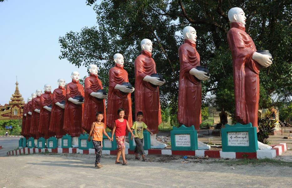 kachin statues myanmar
