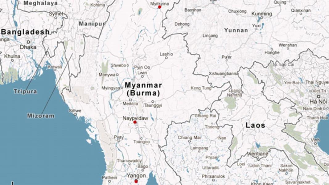 map myanmar kachin