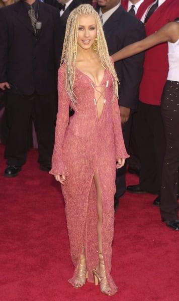 grammy fashion Christina Aguilera 2001