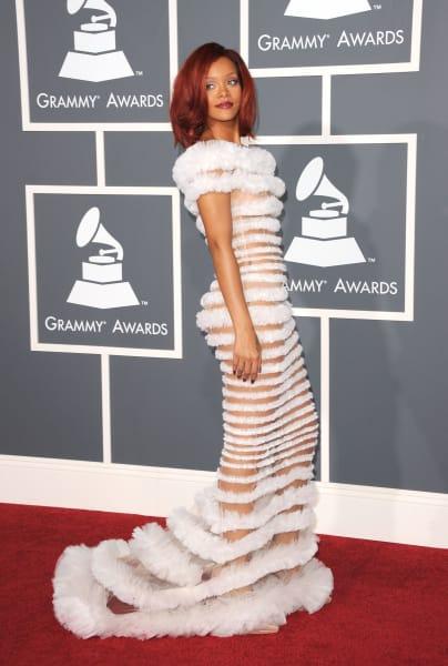 grammy fashion Rihanna 2011