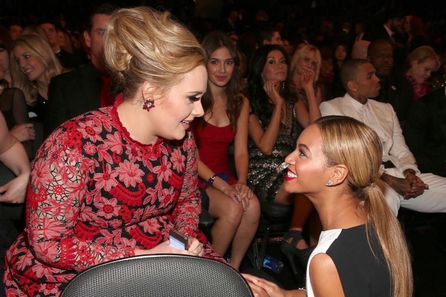 grammy moments beyonce Adele