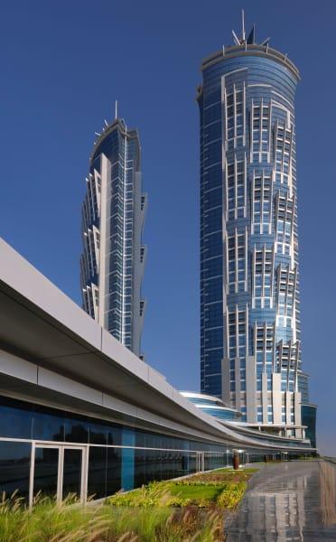 JW Marriott Marquis Dubai side exterior