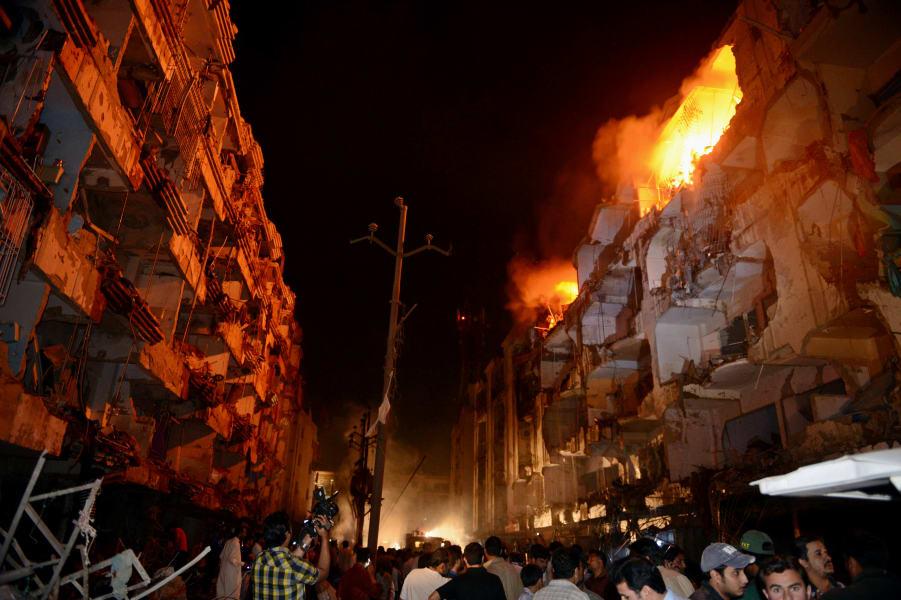 karachi blast 0303