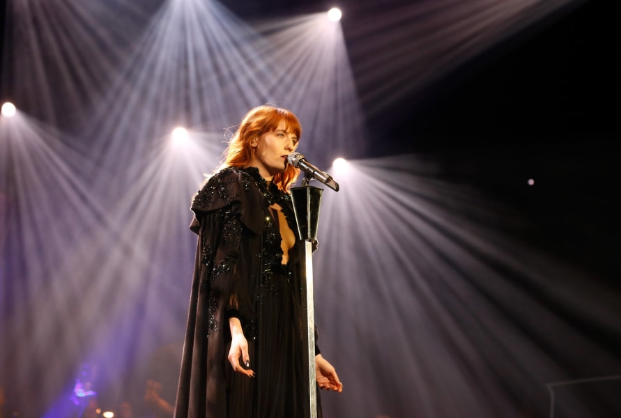 red Florence Welch