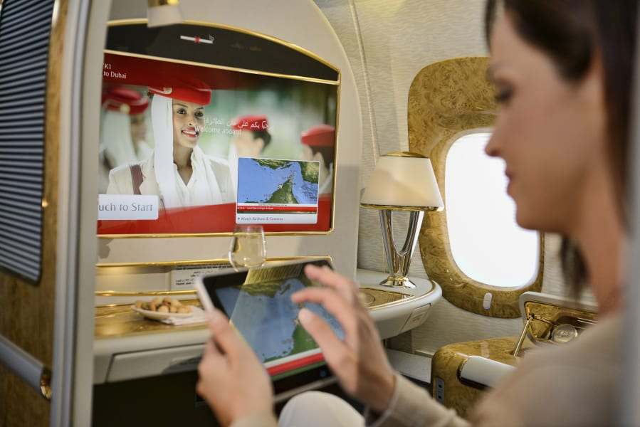 Business Traveller Emirates Airlines IFE live TV
