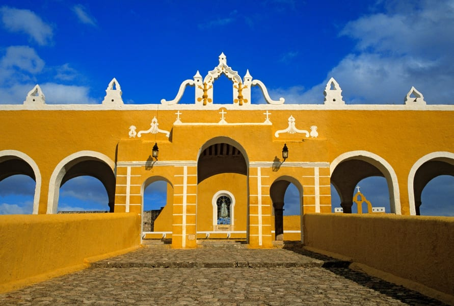 colorful cities Izamal Mexico