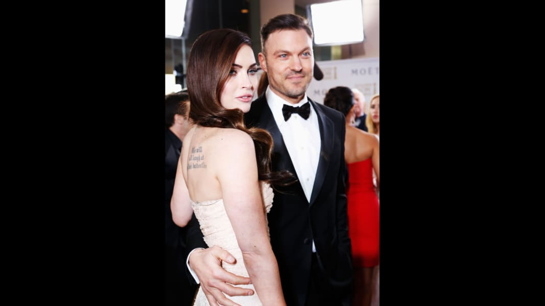 Megan Fox Brian Austin Green Golden Globes January 2013