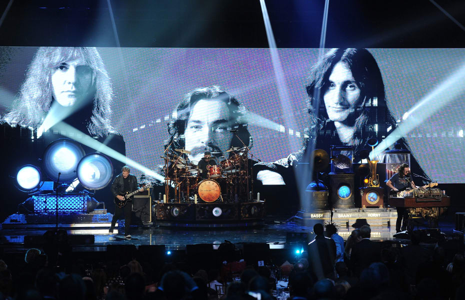 rock Alex Lifeson, Neil Peart, and Geddy Lee of Rush