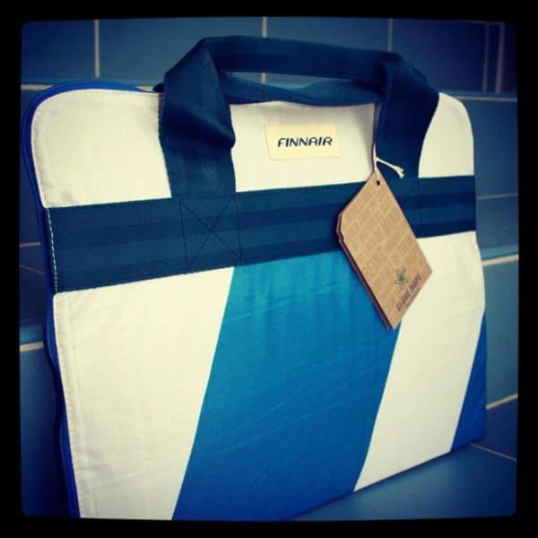 Biz Trav upcycle Finnair bag