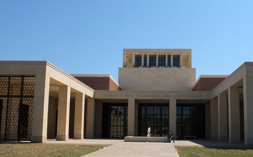 The George W. Bush Presidential Library and Museum in Dallas, Texas