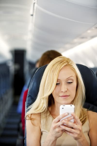cell phone airplane