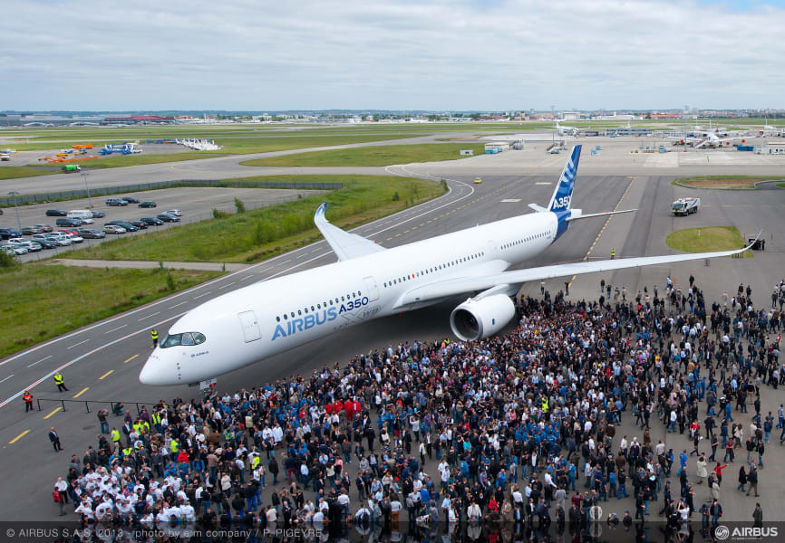airbus a350 painted 1