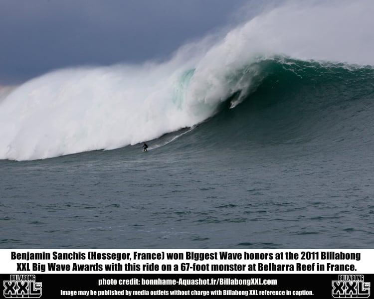 big wave belharra france