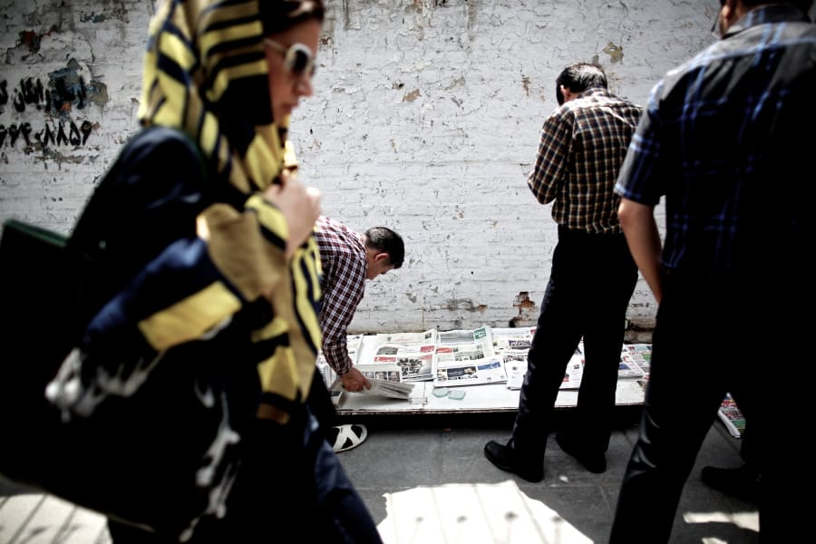 Iran election newspapers