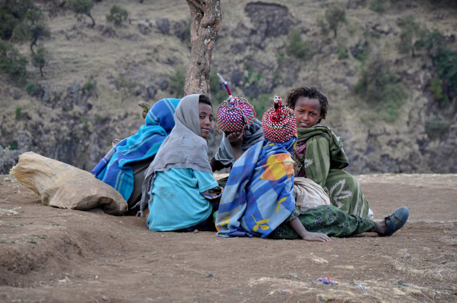 Ethiopia simien mountains kids