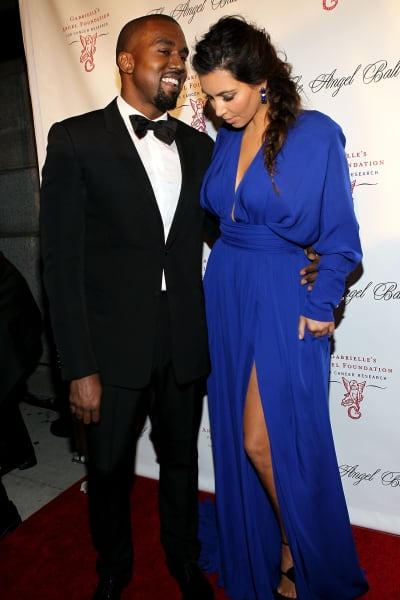 Kanye West Kim Kardashian Angel Ball
