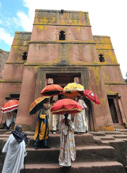 Ethiopian Orthodox Christians lalibela Bete Giyorgis