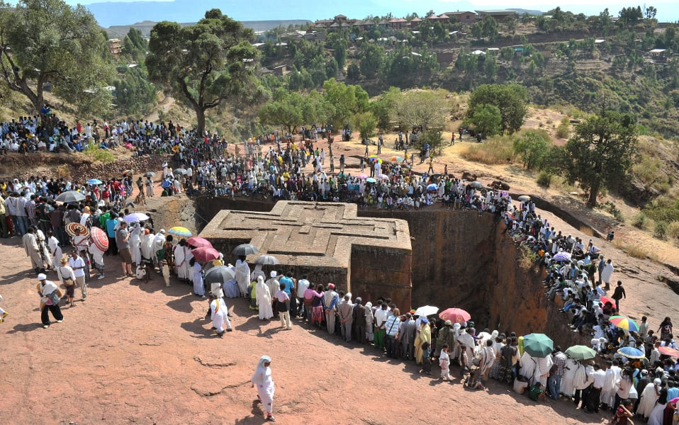 lalibela crowd Ethiopian Orthodox festival