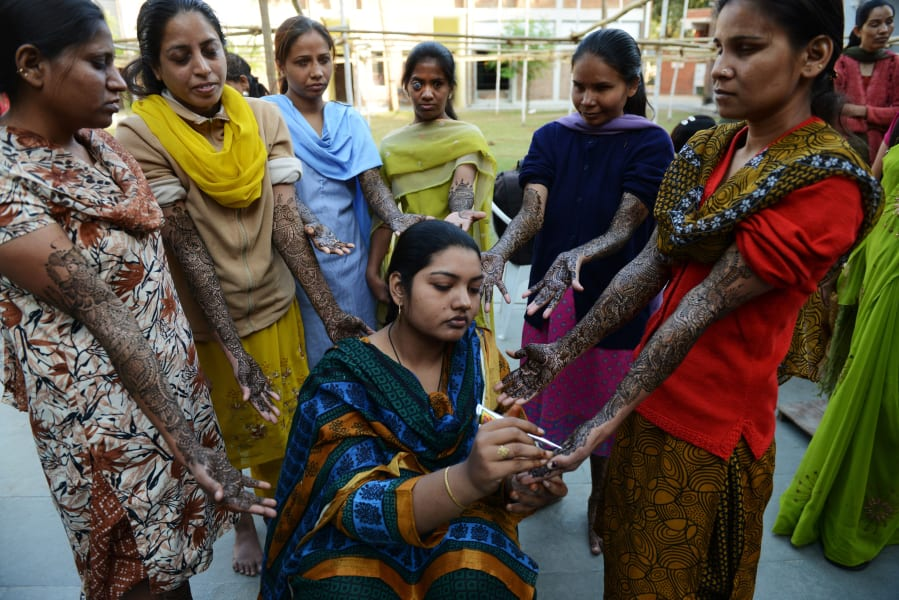 Visually impaired brides