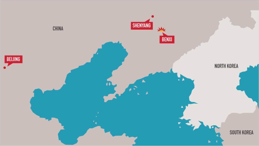 benxihu explosion map