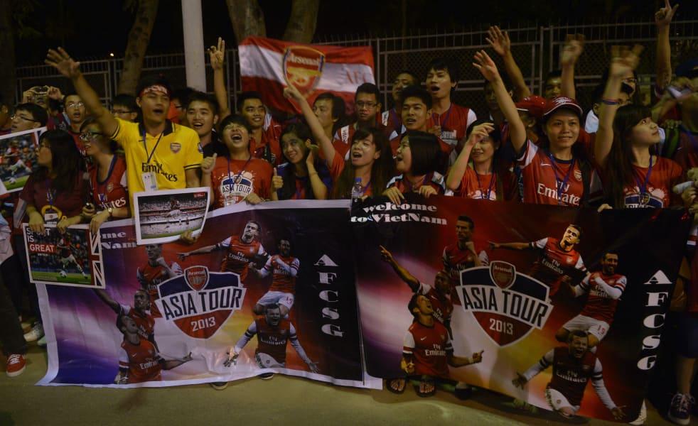 arsenal fans asia tour