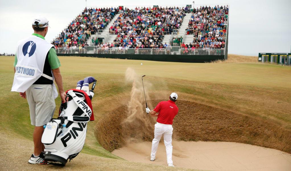 golf open westwood bunker