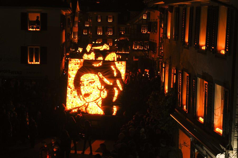 Räbechilbi Turnip Festival Amy Winehouse float