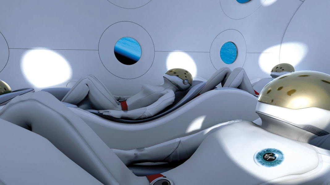 Virgin Galactic passenger seats